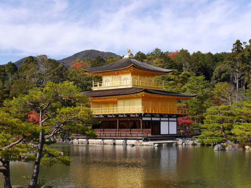 Kinkaku Ji The Golden Temple In Kyoto Overlooking The Lake High Rez