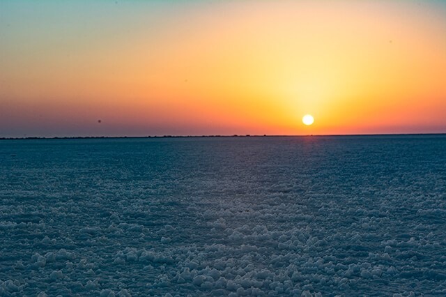 White Rann Sunset