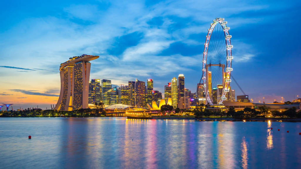 Singapore City Skyline Day To Night Timelapse Singapore Hd 4k Time Lapse Hzeixxgxe Thumbnail Full09